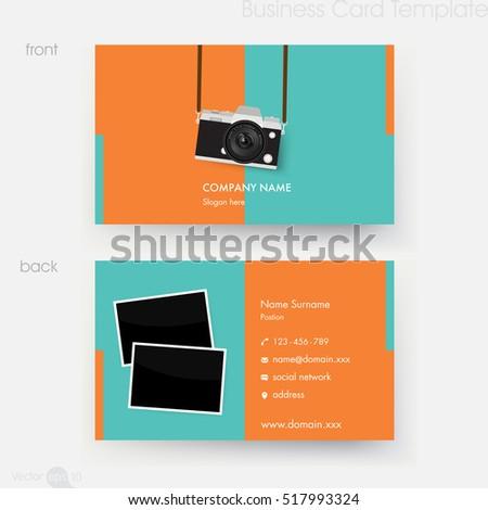 Photographer Business Card Template Stock Vector 517993324