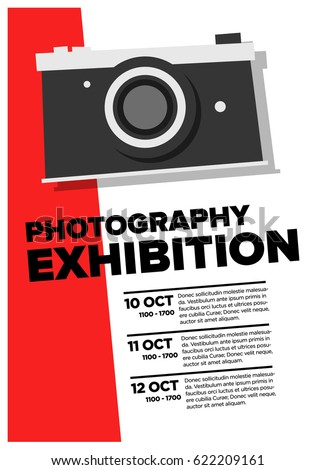 Photography Exhibition Event Poster With Date And Time Details