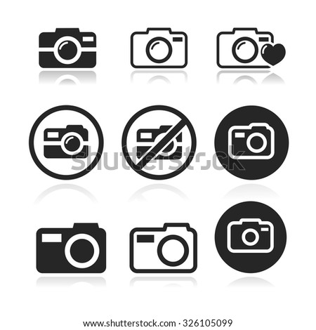 Photography icon set. Vector illustration - stock vector