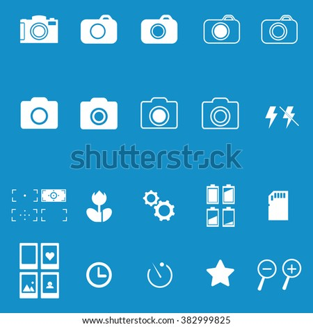 Photography icon set . Vector illustration