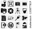 Photography icons - stock photo