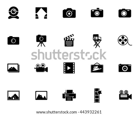 Photography icons - stock vector