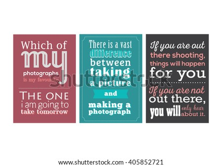 Photography quote collection retro poster