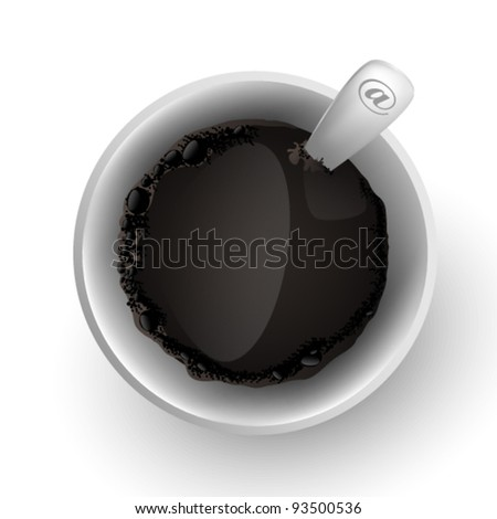 Photoreal cup of coffee - stock vector