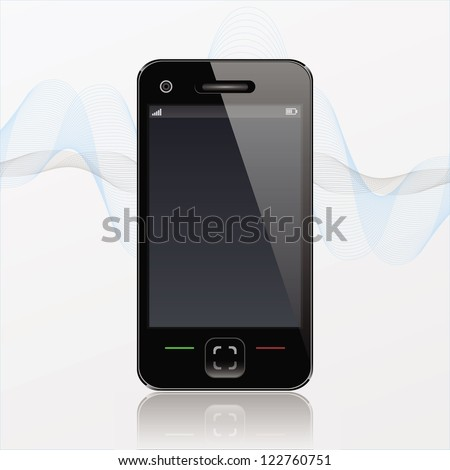 Photorealistic Modern Mobile  Phone - stock vector