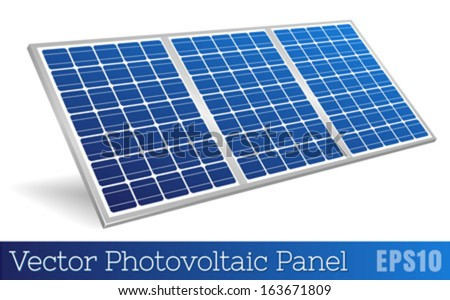 Photovoltaic Panel Realistic Vector - stock vector