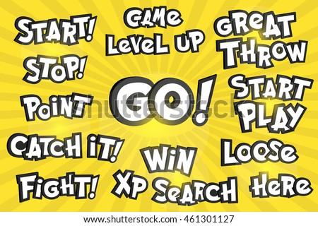 phrase pokemon cartoon style typography element stock vector