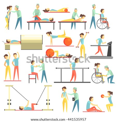 physical therapy infographic illustration stock vector