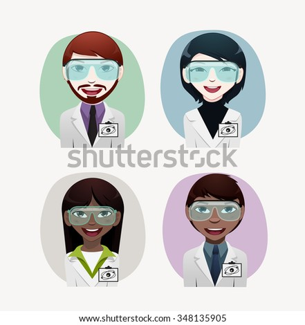 physicist professional vector illustration