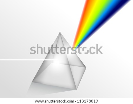 Physics Prism eps10 - stock vector