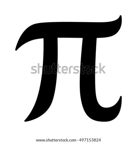 Pi 314 Mathematical Constant Sign Symbol Stock Vector 2018