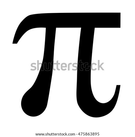 Pi, mathematical symbol icon on white background. Vector art.