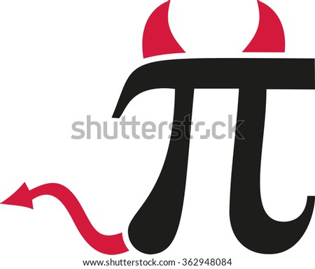 Pi Sign Devil Horns Stock Vector 362948084 Shutterstock