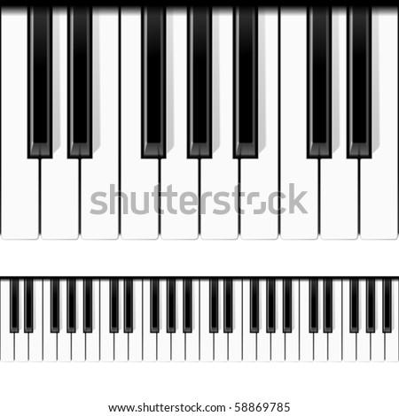 Piano keys. Seamless vector. - stock vector