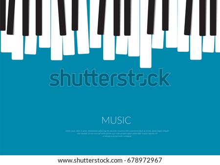 Piano Music Poster Vector Illustration