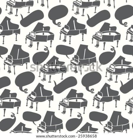 Piano Pattern - stock vector