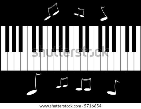 Piano vector - stock vector