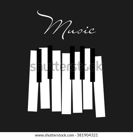 Piano Vector Illustration Stock 381904321