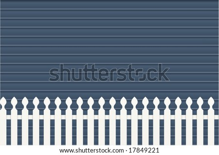 Picket Fence & Weatherboard - stock vector