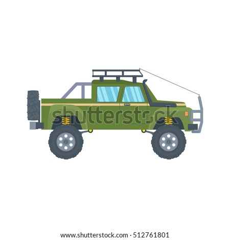 Pickup truck big wheels isolated on stock vector hd royalty free pickup truck with big wheels isolated on white background vector illustration publicscrutiny Images