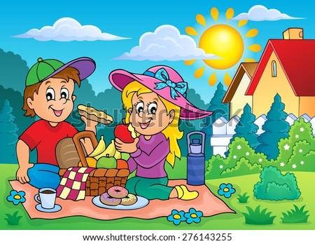 Picnic theme image 2 - eps10 vector illustration. - stock vector