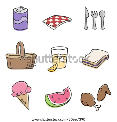 Picnic Time - stock vector