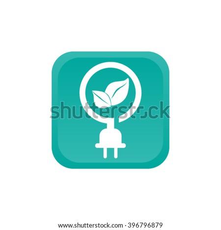 Pictograph eco power icon - stock vector