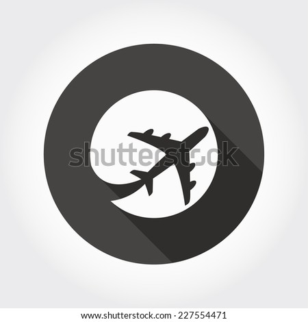 Pictograph of airplane - stock vector