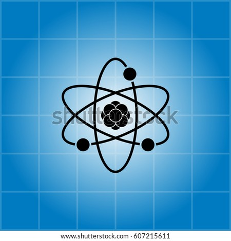 Pictograph of atom. vector illustration