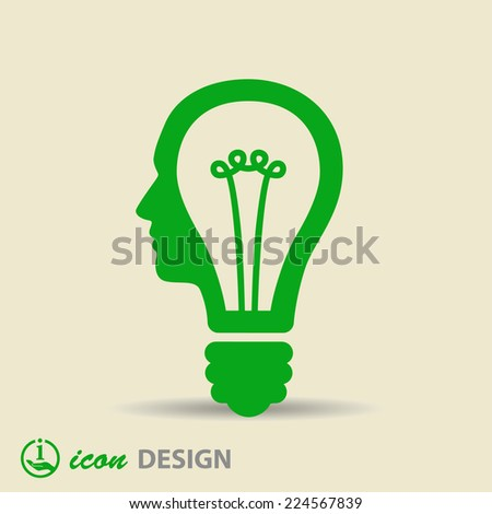 Pictograph of bulb concept