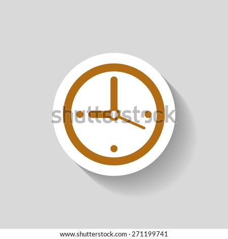 Pictograph of  clock - stock vector