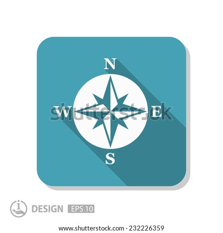 Pictograph of compass - stock vector
