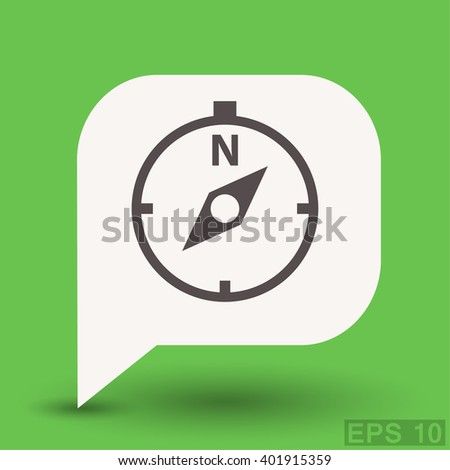 Pictograph of compass. Vector concept illustration for design. Eps 10