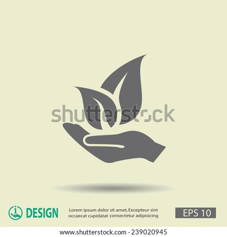 Pictograph of eco - stock vector