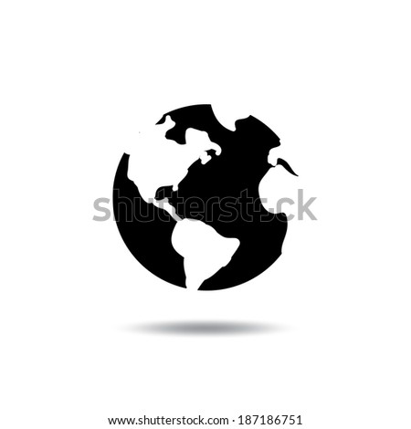 Pictograph of globe - stock vector