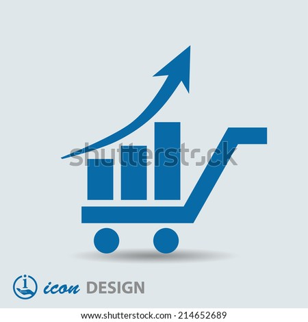 Pictograph of graph - stock vector