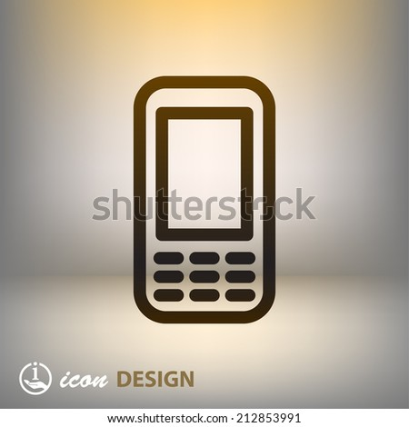 Pictograph of mobile - stock vector