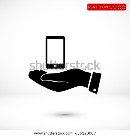Pictograph of mobile icon, vector best flat icon, EPS