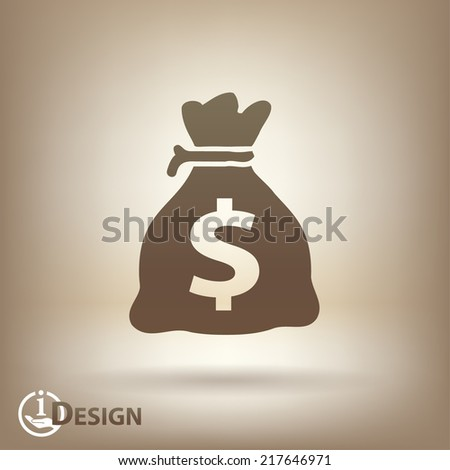 Pictograph of money - stock vector