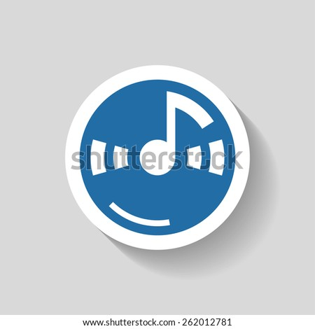 Pictograph of music note - stock vector