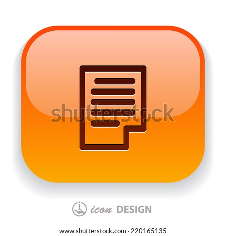 Pictograph of page - stock vector