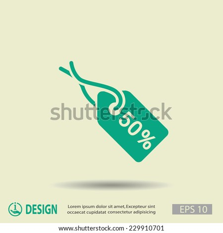 Pictograph of tag - stock vector