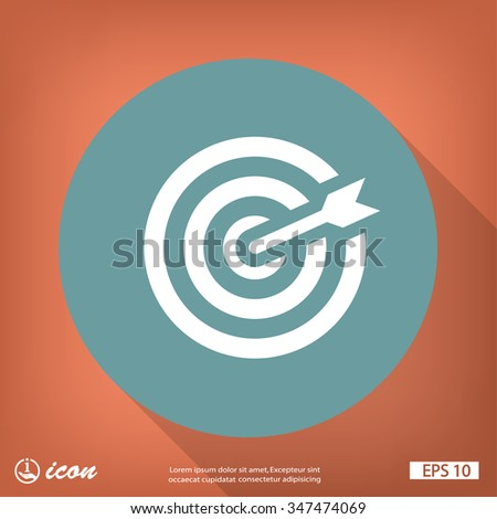 Pictograph of target - stock vector