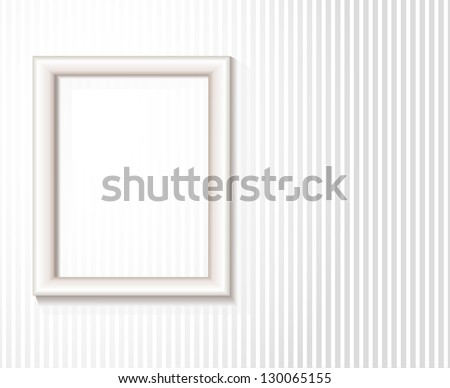 Picture frame on white wall. EPS 10 transparency used