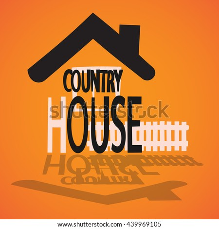 picture of country building - stock vector
