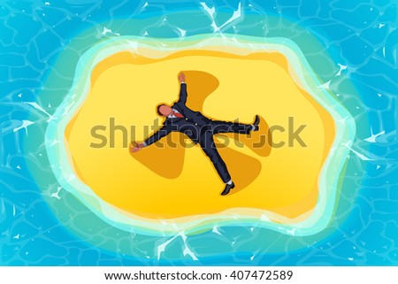 picture of island - stock vector
