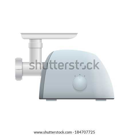picture of meat grinder on white background, vector eps 10 illustration