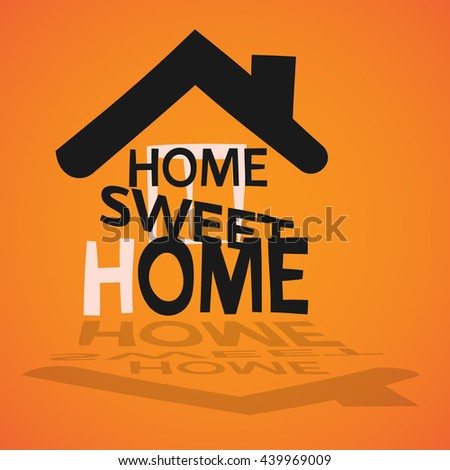 picture of sweet home - stock vector