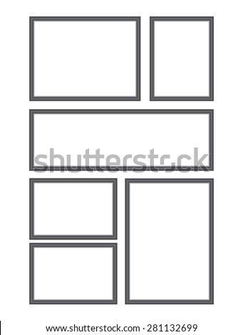 Picture photo frames vector - stock vector
