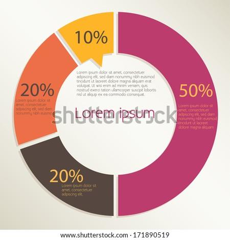 Pie Chart Design, Infographics - Vector eps10  - stock vector